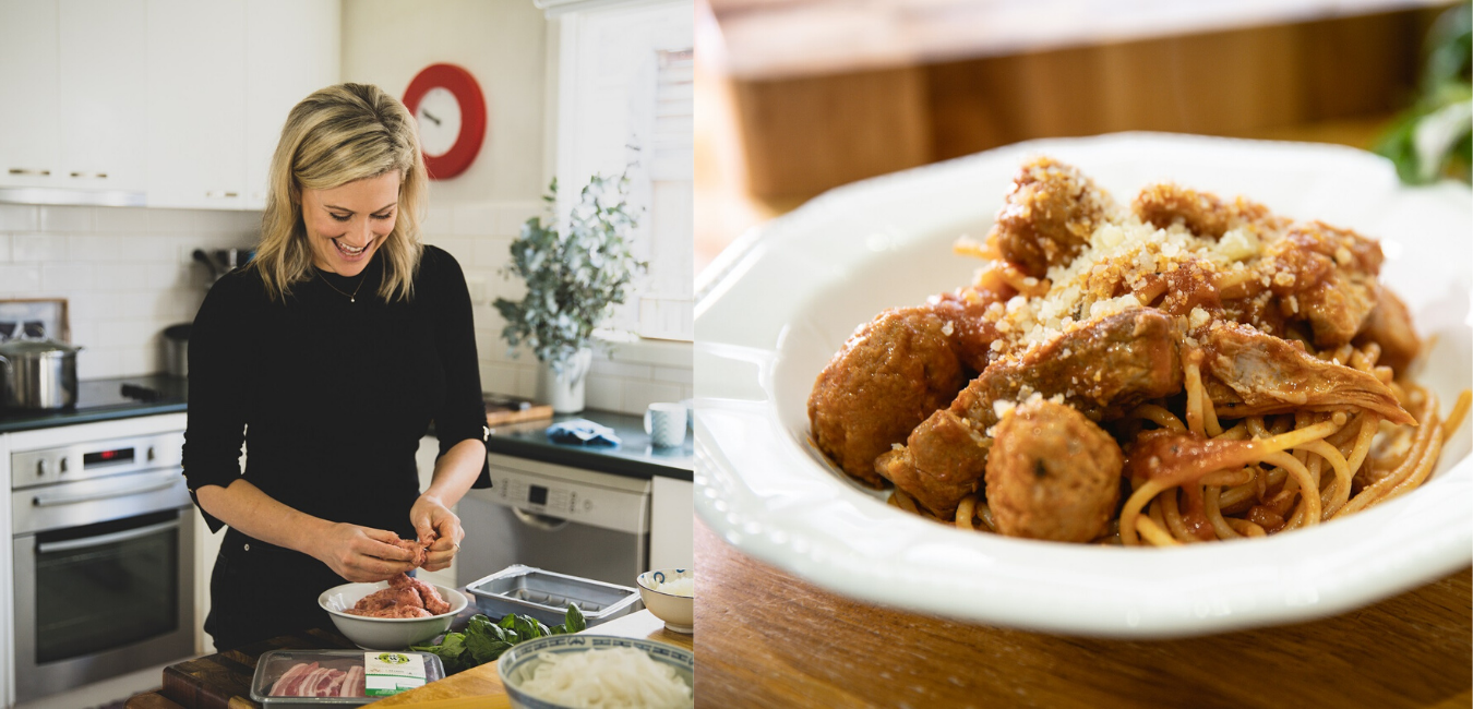 Justine Schofield's Otway Pork – Pork sausage meatballs