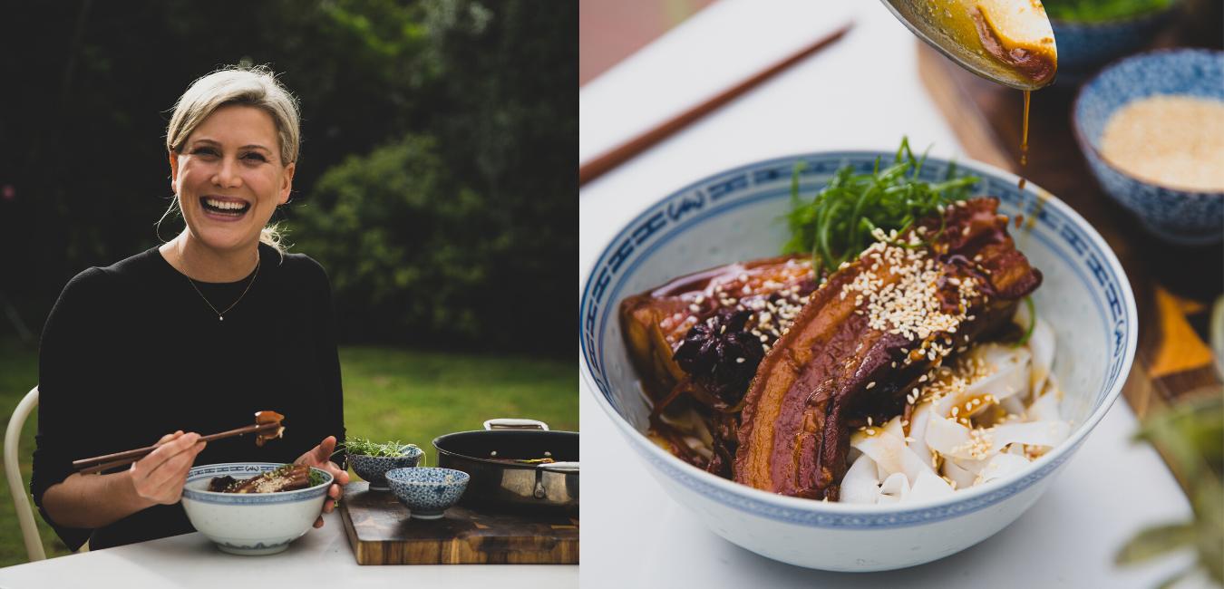 Justine Schofield's Otway Pork – Sticky honey and soy pork noodles