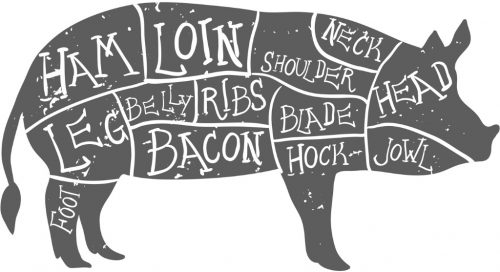 american-cuts-of-pork-vintage-typographic-handdrawn-butcher-cuts-vector-id474821948